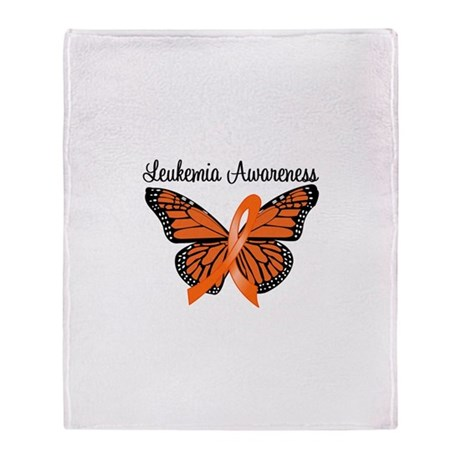 Leukemia Awareness Throw Blanket
