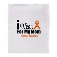I Wear Orange For My Mom Throw Blanket