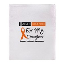 Leukemia I Wear Orange Throw Blanket