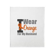 I Wear Orange (Husband) Throw Blanket