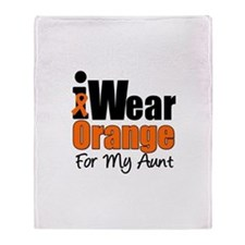 Leukemia Aunt Throw Blanket