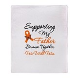 Orange Ribbon Butterfly Throw Blanket