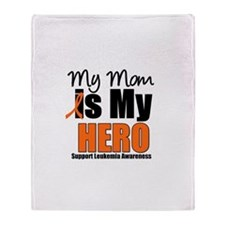 Leukemia Hero (Mom) Throw Blanket