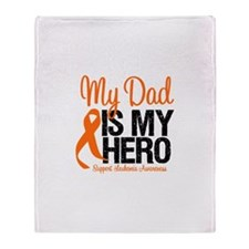 LeukemiaHero Dad Throw Blanket