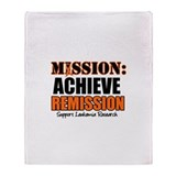 Mission: Achieve Remission (L Throw Blanket