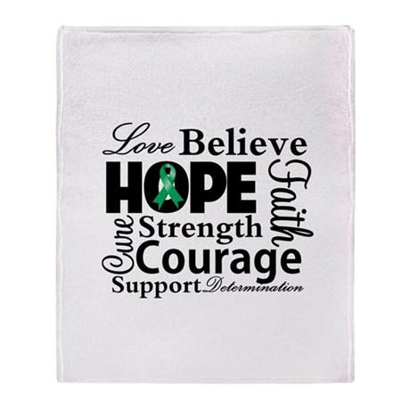Liver Cancer Hope Collage Throw Blanket