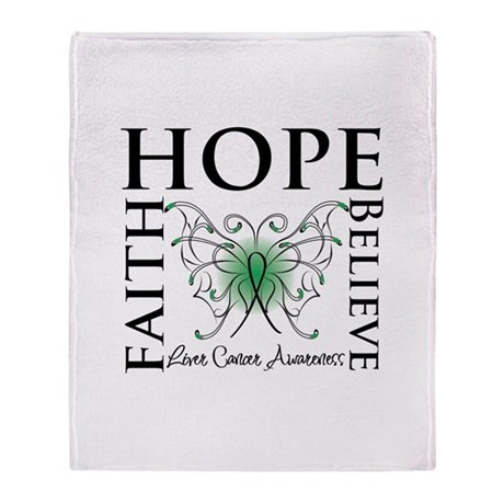 Faith Hope Liver Cancer Stadium Blanket