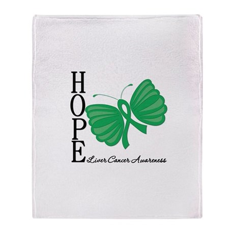 Hope Butterfly Liver Cancer Stadium Blanket