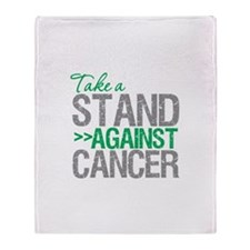 Take a Stand - Liver Cancer Throw Blanket