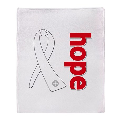 Hope Ribbon Lung Cancer Stadium Blanket