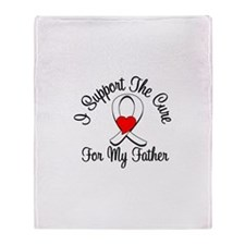 Lung Cancer (Father) Throw Blanket