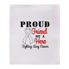 ProudFriendLungCancer Hero Throw Blanket