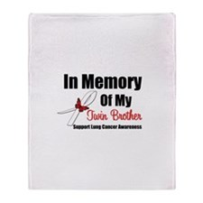 InMemoryTB Lung Cancer Throw Blanket