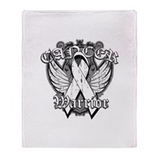Winged Emblem Lung Cancer Throw Blanket