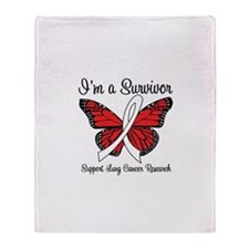 I'm a Survivor (Lung Cancer) Throw Blanket