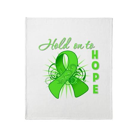 Lymphoma Hold On Hope Throw Blanket