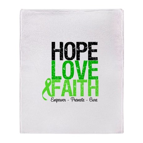 Lymphoma Hope Love Faith Throw Blanket