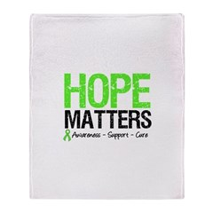 Hope Matters Grunge Throw Blanket
