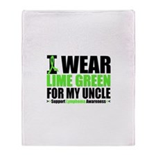 I Wear Lime Green Uncle Throw Blanket