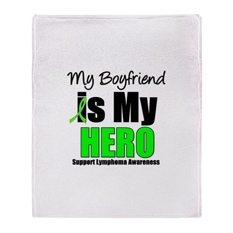 Lymphoma Hero Throw Blanket