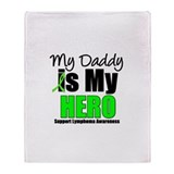 Lymphoma Hero (Daddy) Throw Blanket