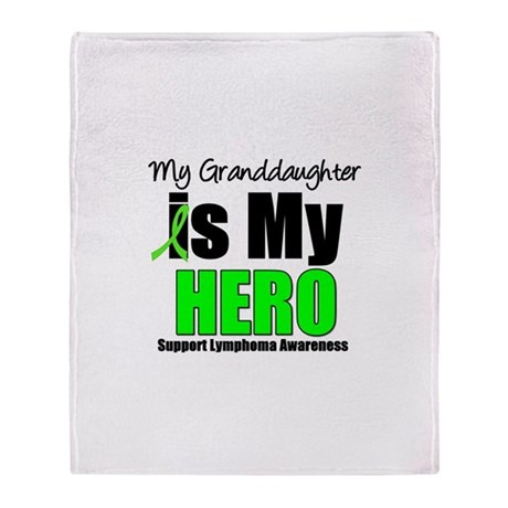Lymphoma Hero (GD) Throw Blanket