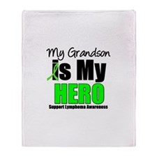 Lymphoma Hero (Grandson) Throw Blanket