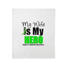 Lymphoma Hero Wife Throw Blanket