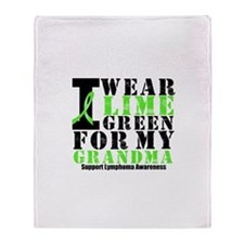 Lymphoma Grandma Throw Blanket