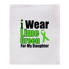 Lime Green Daughter Throw Blanket