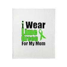 Lime Green Mom Throw Blanket