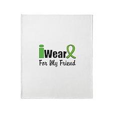I Wear Lime Green Friend Throw Blanket