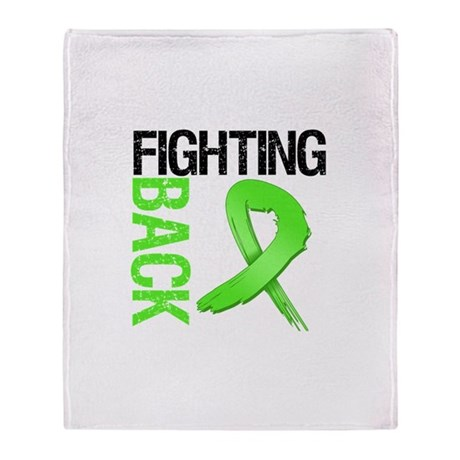 Fighting Back - Lymphoma Throw Blanket