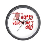 Pissed Off Valentine Wall Clock