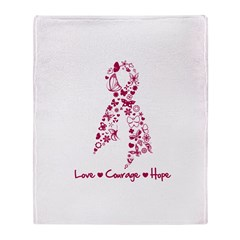 Love Courage Myeloma Throw Blanket