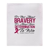 Multiple Myeloma Bravery Throw Blanket