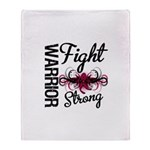 Fight Strong Myeloma Warrior Throw Blanket