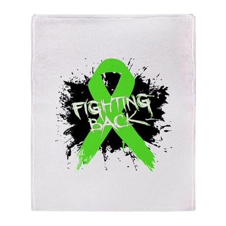 Fighting Back Non-Hodgkins Throw Blanket