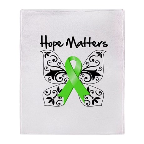 Hope Matters Non-Hodgkins Throw Blanket