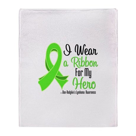 HeroNonHodgkinsLymphoma Throw Blanket