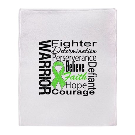 Non-Hodgkins Warrior Throw Blanket
