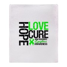 NonHodgkinHopeLoveCure Throw Blanket