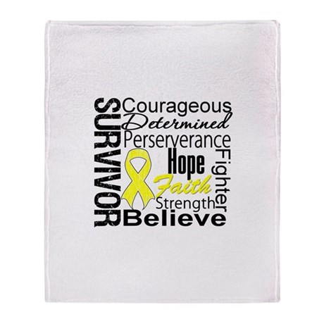 Sarcoma Survivor Collage Stadium Blanket