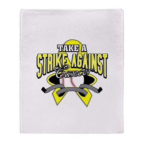 Take a Strike Sarcoma Cancer Stadium Blanket