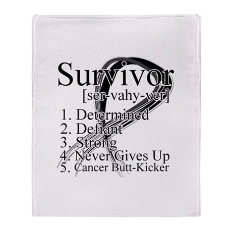 Skin Cancer Survivor Throw Blanket