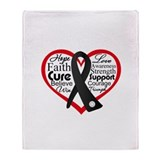 Skin Cancer Heart Throw Blanket