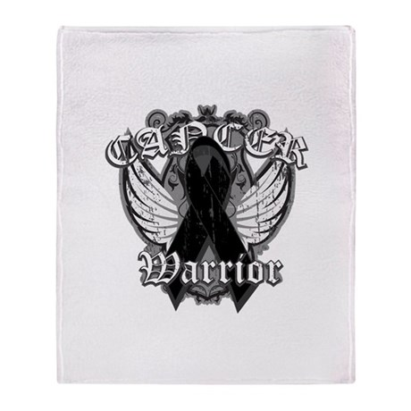 Skin Cancer Warrior Throw Blanket