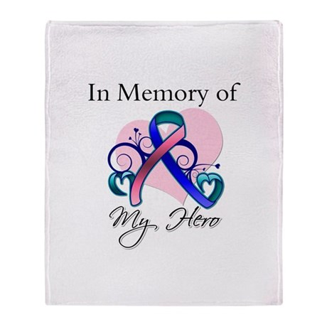 In Memory Thyroid Cancer Stadium Blanket