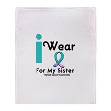 Thyroid Cancer Throw Blanket