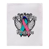 Thyroid Cancer Warrior Throw Blanket